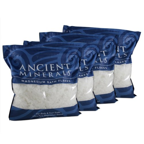 Magnesium Bath Flakes (Clinical Pack) 32lbs flakes by Ancient Minerals by Ancient Minerals