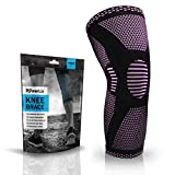 POWERLIX Compression Knee Sleeve - Best Knee Brace for Men & Women - Knee Support for Running, Crossfit, Basketball, Weightlifting, Gym, Workout, Sports - for Best FIT Check Sizing Chart: more info