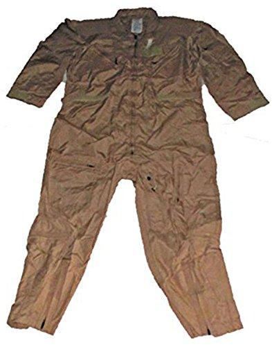 US Military Flight Suit CWU 27P Flyers Tan Coveralls Mechanic Jumpsuit (52 Regular)