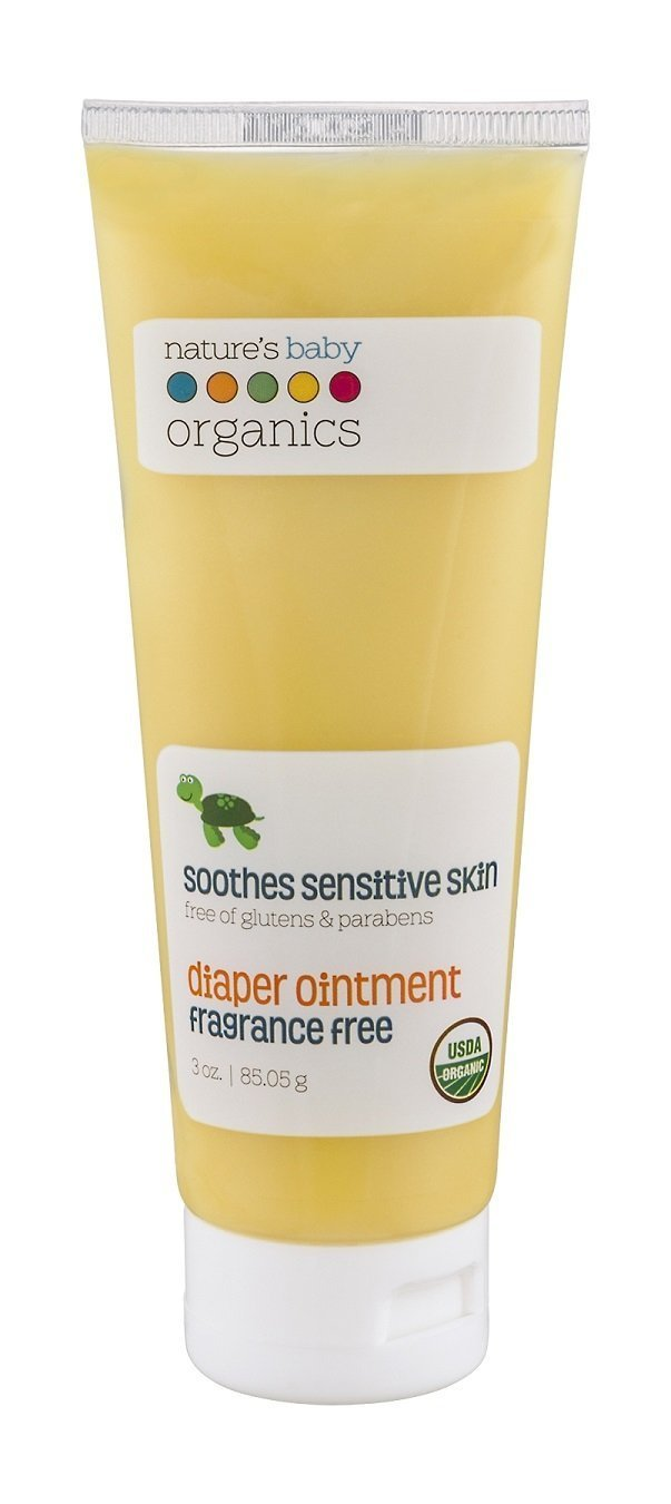 Nature's Baby Organics Diaper Ointment, Fragrance Free, 3 oz. | Soothing Skin Relief for Babies, Kids, & Adults! Gentle, and Soft for Chafing & Rash | Organic, No Glutens, or Parabens Natures Baby Organics B002WC8EHK