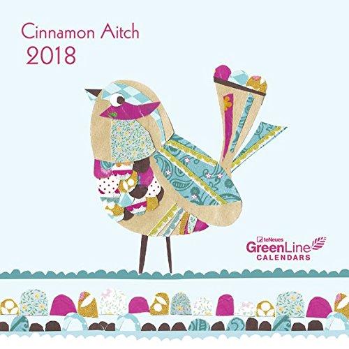 Cinnamon Aitch 2018 - GreenLine Kalender, liebevoll gestalteter Kalender, Mini-Broschürenkalender - 17,5 x 17,5 cm