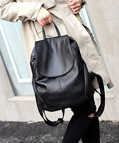 Large Ladies Satchel Women Bag Capacity Waterproof Small Purse RelaxBrand Backpack Medium Poly Leather Size Travel Shoulder YcU8w