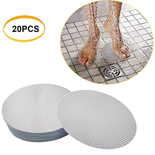 - Non-Slip Safety Shower Treads Rubber PEVA10cm Diameter Mat Bathroom Paste Bathtub Round Non-Slip Stickers 20 Pack (Transparent)