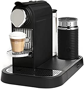 Nespresso D120-US-BK-NE CitiZ Automatic Single-Serve Espresso Maker and Milk Frother, Limousine Black
