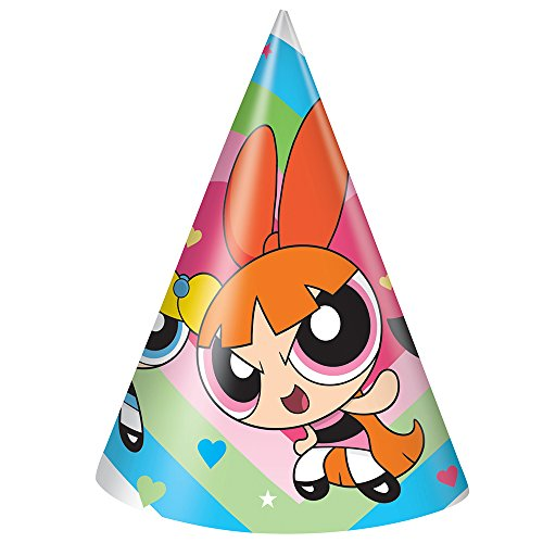 Cute Powerpuff Girl Costumes (Powerpuff Girls Party Hats, 8ct)