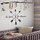 Dream Catcher Decal Feather Sticker Boho Dreamcatcher Wall Decals for Bedroom Nursery Hippie Decor Bohemian Bedding Art Ah120