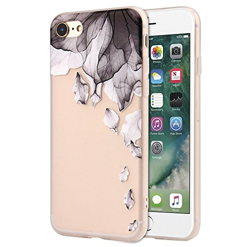 IPhone 8 / 7 Case , Transer Flowers Soft Silicone Protective Case Cover For IPhone 8/7 4.7 Inch (A)