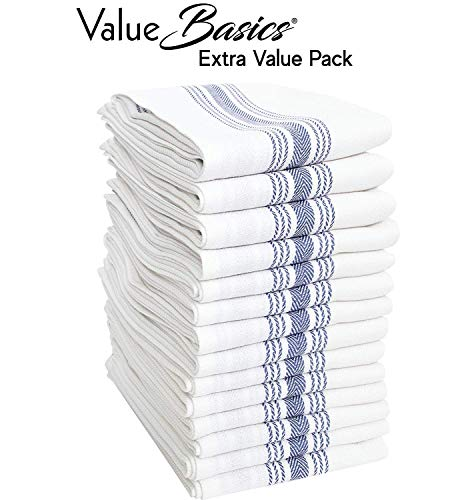 Value Basics Herringbone Stripe Kitchen Towel Set, 15