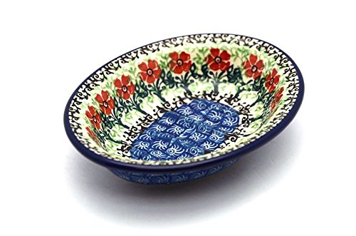 Polish Pottery Soap Dish - Maraschino