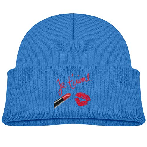 Go Ahead! boy Kids Knitted Beanies Hat Makeup Time Mouth Winter Hat Knitted Skull Cap Boys Girls Black -