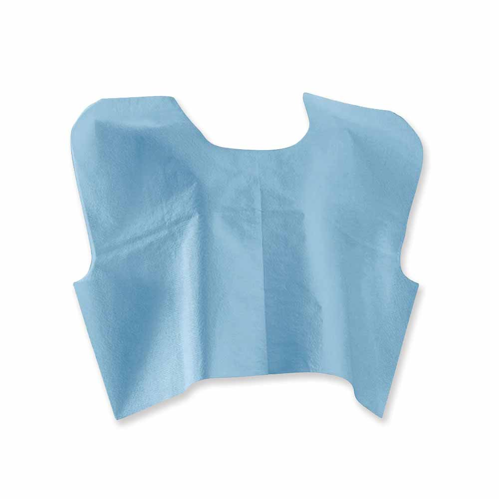 PDC Healthcare MAM-515 Disposable Mammography Cape, Front or Back Opening, Tissue/Poly/Tissue, 30'' x 21'', Blue (Pack of 100)
