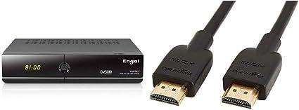Engel RS8100Y - Receptor TV satélite HD PVR con WiFi & AmazonBasics - Cable HDMI 2.0 de Alta Velocidad (Ethernet, 3D, vídeo 4K y ARC, 0,91 m, estándar más Reciente): Amazon.es: Electrónica