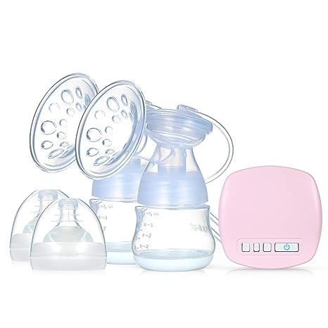 Decdeal Bomba de Lactancia Eléctrica Silenciosa Doble Portátil Segura para Bebés USB Recargable con Modos 9 Niveles Extractor de Leche para Bebé Mamá
