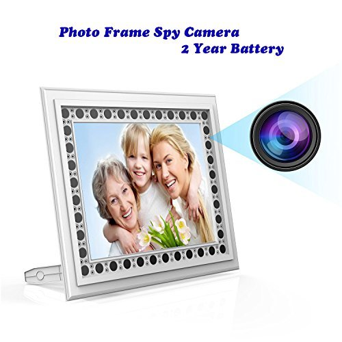 Hidden Spy Camera Photo Frame, Conbrov HD 720P Picture Frame Nanny Cam with Night Vision PIR Motion Activated Video Recorder Covert DVR with Built-in 10000mah Battery, 2 Year Long Standby for American from Conbrov