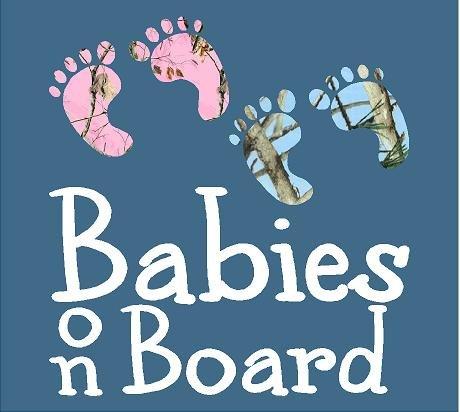 Blue Camo Babies Board Sticker product image
