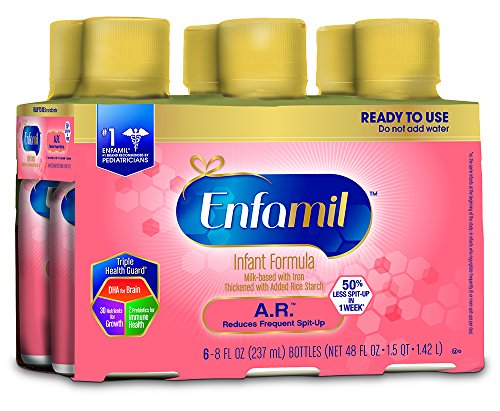 Enfamil A.R. Infant Formula - Clinically Proven to reduce Spit-Up in 1 week - Ready to Use Liquid, 8 fl oz (6 count)