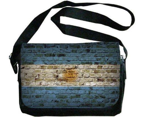 Argentina Flag Brick Wall Design Messenger Bag