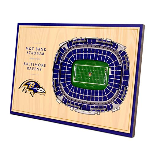 YouTheFan NFL Baltimore Ravens Unisex Baltimore RavensDesktop Stadium View, Wood Grain, Desktop