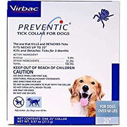 "Virbac Preventic Collar - 25"" -1 Single Collar"
