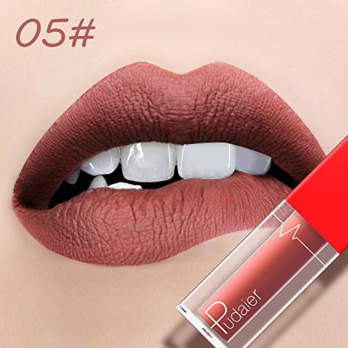 Top Yiitay High Pigmented Liquid Lipstick Nude Bean Color Matte No Fading free shipping
