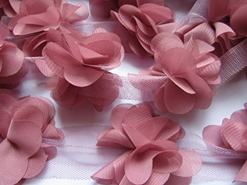 Pink Cluster Flowers - YYCRAFT 5 Yards 2.5