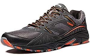 TF-T330-BKO_Men 9 D(M) Tesla Men's Outdoor Sneakers Trail Running Shoe T330