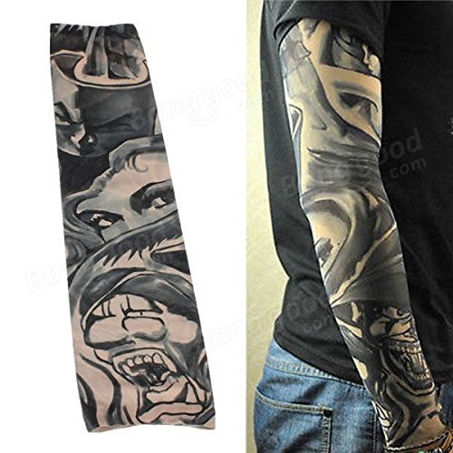 Arm Sleeve Unshod - Nylon Spandex Temporary Stretchable Tattoo Sleeve Arm Stocking - Weapon Unshoed Subdivision System Build - 1PCs by Unknown