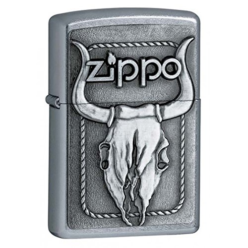 (Personalized Message Engraved Customized Animals Part1 Zippo Lighter Indoor Outdoor Windproof Lighter (Bull Skull))