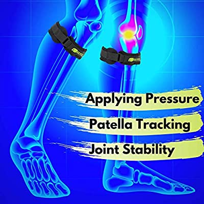SENTEQ Patella Knee Strap Brace, Medical Grade and FDA Approved, Adjustable Knee Support to Prevent Pain and Tendinitis. Best for Running, Basketball, Volleyball, Soccer, Injury Recovery. (Compact)