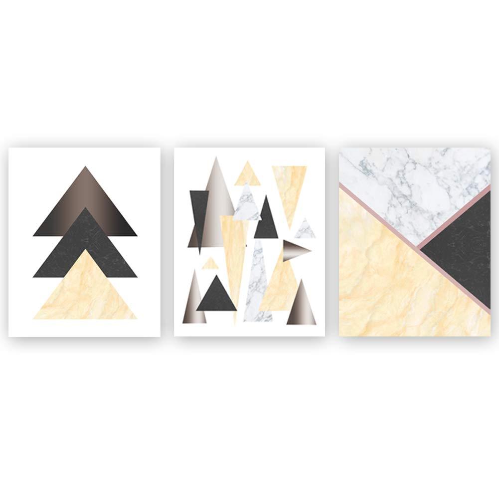 Chsdec Abstract Modern Geometry Art Print Geometric Wall Art Marble Triangle Art Poster Minimalist Art Painting Set Of 3 8 X10 Unframed Bedroom Decor Housewarming Gift Buy Online In Aruba At Aruba Desertcart Com Productid 107324599