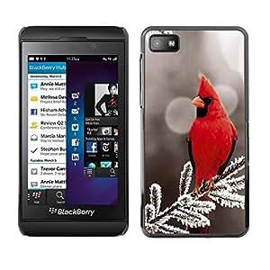Strong Smartphone Rígido Protección única Imagen Carcasa Funda Tapa Skin Case para Blackberry Z10 Majestic Red Bird