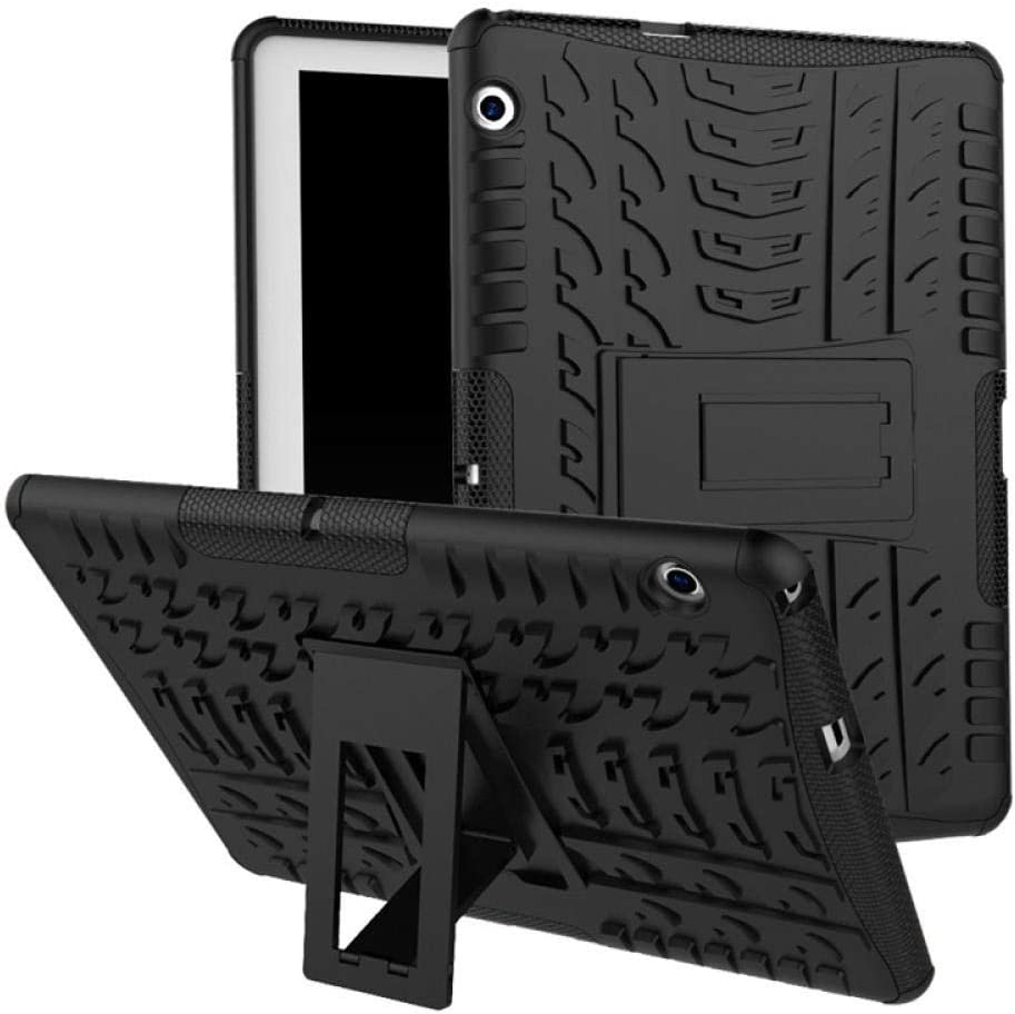 Custodia per tablet Per Huawei M3 Lite Custodia da 10.1 pollici Armatura ibrida Cavalletto rigido per Huawei MediaPad M3 Lite 10 M3 10 BAH-W09-AL00 Cover-rosa rossa