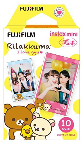 Fujifilm Instax Mini Instant Film 3-PACK BUNDLE SET , RiLakkuma Film (10) , Hello Kitty (10) , Gudetama (10) , Stickers 20 pcs. for 90 8 70 7s 50s 25 300 Camera SP-1 Printer by FujiFilm