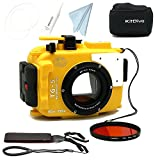 SeaFrogs 195FT/60M Underwater camera waterproof housing for Olympus TG-5 Yellow