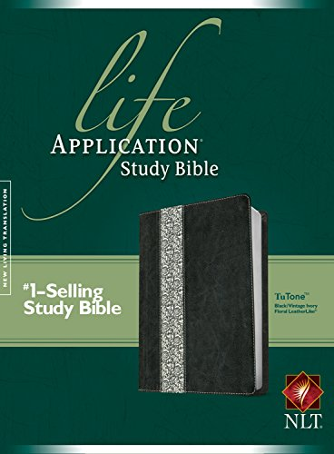 NLT Life Application Study Bible, Second Edition, TuTone (Red Letter, LeatherLike, Black/Vintage Ivory Floral)
