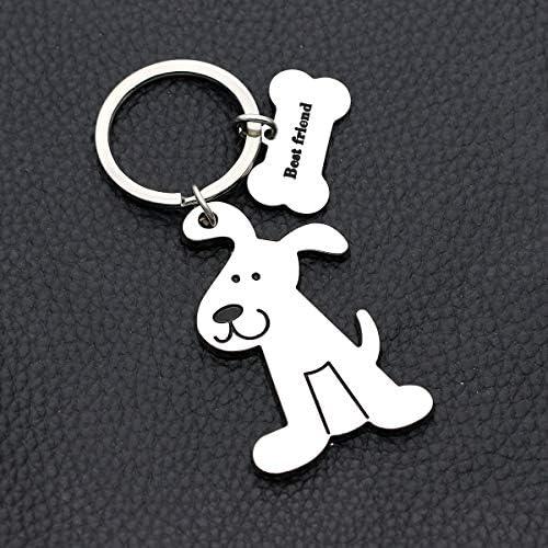 犬 子犬 キーチェーン レディース メンズ 子供 ギフト 車 キーチェーン クリスマス 誕生日 感謝祭 ギフト