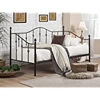 Baxton Studio Jolin Chic Antique Dark Bronze Twin Size Iron Metal Daybed