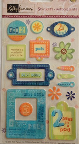 Two of Kind Epoxy Scrapbook Stickers (PKGEM22)