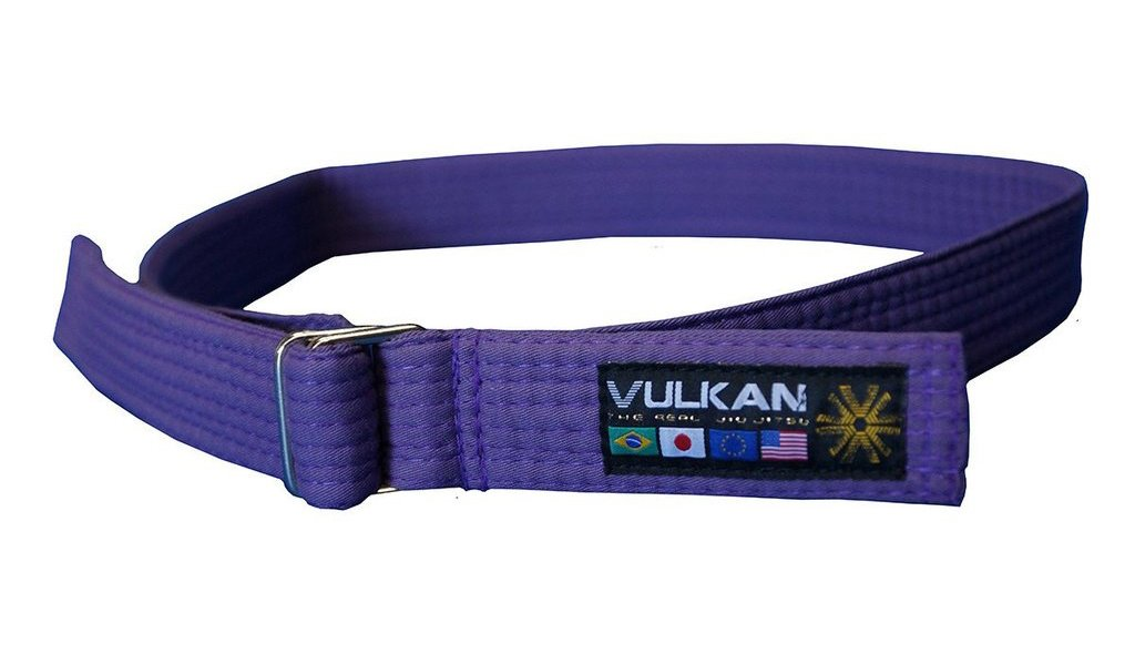 Vulkan Fight Company Street Wear Jiu Jitsu, Belt With Double-Ring Buckle For Martial Arts Sports, Purple, M by Vulkan
