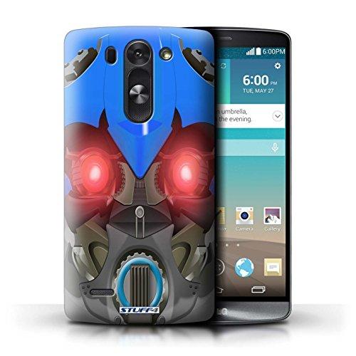 Kobalt® Imprimé Etui / Coque pour LG G3 S (Mini)/D722 / Bumble-Bot Bleu conception / Série Robots