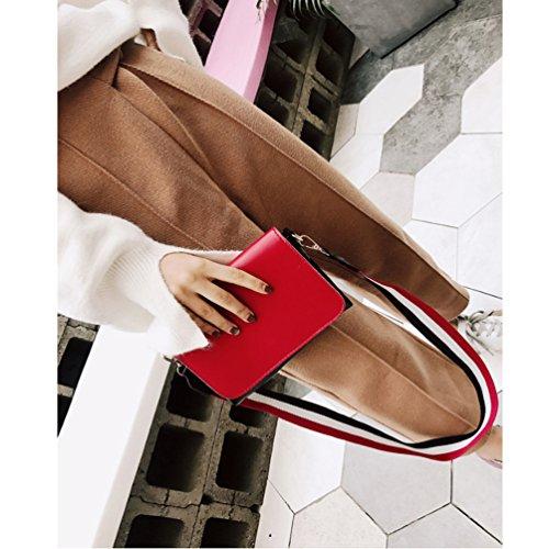 femmes sac A rouge à main à Cuir Main Mode Synthétique bandoulière élégantes Femme Tote Sac Sac Sac En main Bandoulière 4wHwq7EnpZ
