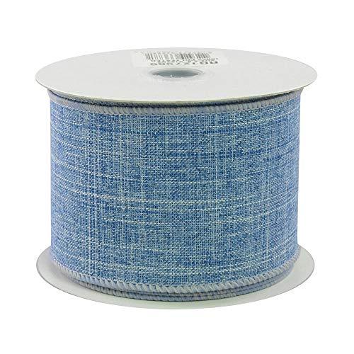Royal Blue Burlap Wired Ribbon - 2 1/2