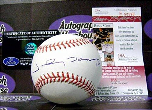 Johnny Damon autographed Baseball (JSA)
