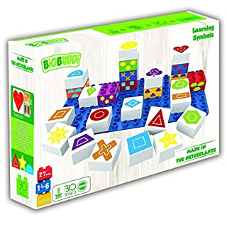 BIOBUDDI Learning Symbols Playset - Educational Building Blocks for Children