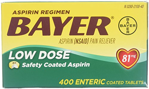 Bayer Aspirin Regimen Low Dose 81mg, Enteric Coated Tablets, 400-Count ()