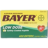 Bayer Aspirin Regimen Low Dose 81mg, Enteric Coated Tablets, 400-Count