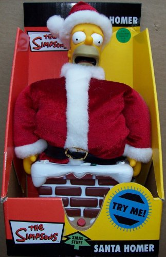 (The Simpsons Xmas Stuff Stuck In The Chimney Santa Homer)