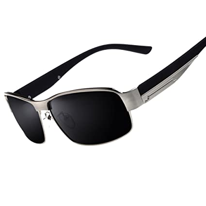6010bb4c1ab3 Amazon.com : DEI QI Men's Polarizer Square Sunglasses Fashion Outdoor  Sports Glasses, UV Protection Sunglasses, Metal Frame : Sports & Outdoors