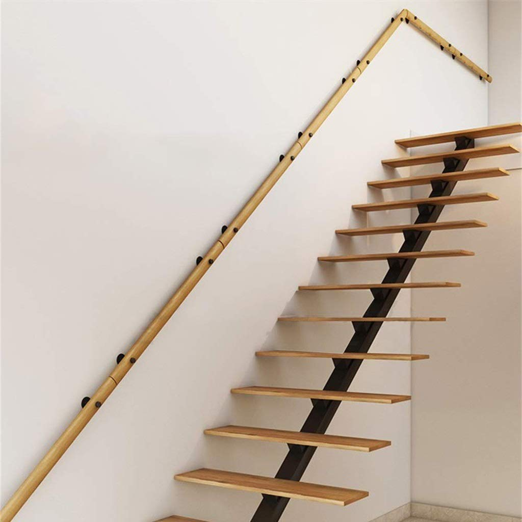 Handrail (1ft~20ft),Non-Slip Solid Wood Stair Safety Rails, Elderly Children's Loft Indoor and Outdoor Handrail Corridor Wall Stair Railing (Size : 13ft) by HT-Handrail