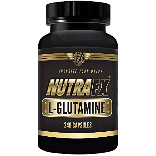 Nutrafx GLUTAMINE gélules - Sports Nutrition Post Workout ~ exercice récupération ~ fonction immunitaire Supports ~ Supports MUSCLE masse 240 capsules 2 caps par portion